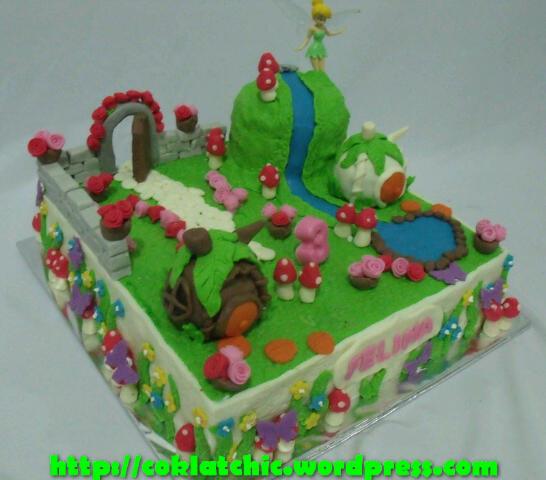 Cake Tinkerbell Di Taman Fairy Felina Jual Kue Ulang Tahun
