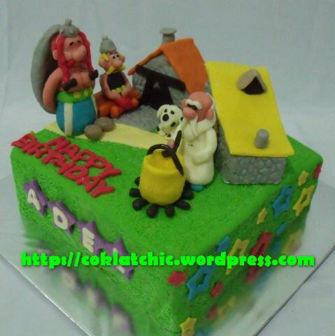 Asterix Dan Obelix Cake Adel Jual Kue Ulang Tahun