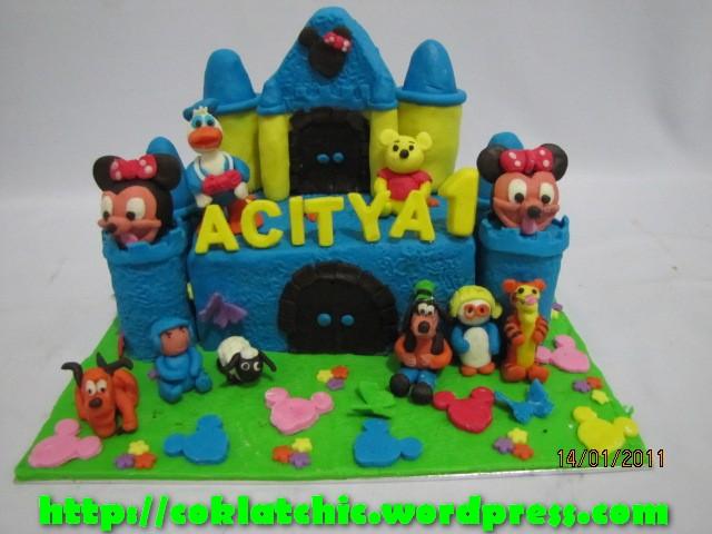pin kue mickey with baloon ulang tahun mickeytoko depok