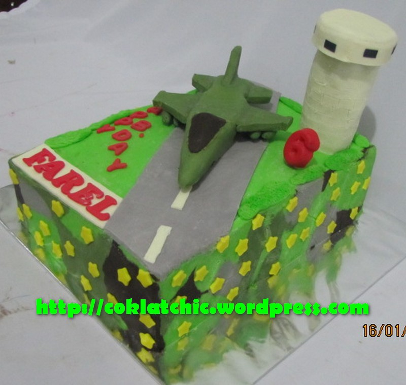 Harga kue pesawat militer mulai dari Rp 350 ribu dengan topper dan ...