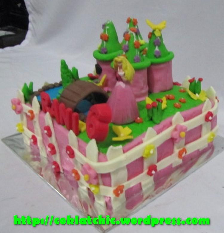 Cupcake 3D Princess dan kue ulang tahun Princess