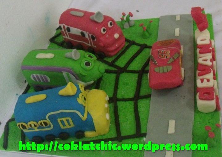 Set minicake chuggington dan minicake cars lightning mc queen ...
