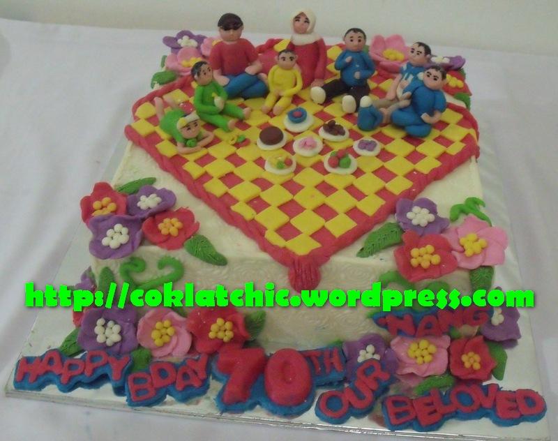 Kue ulang tahun dengan tema picnic cake model ini mulai dari harga 450