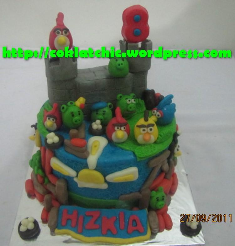 Kue ulang tahun dengan tema Cake Angry Bird model ini mulai dari harga