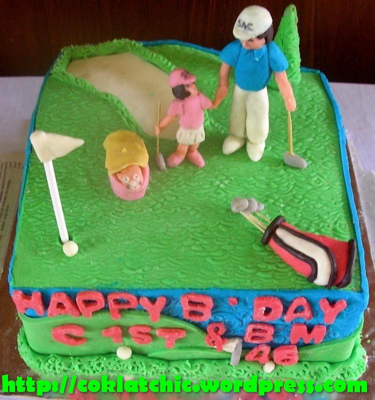 Kue ulang tahun bola kue ulang tahun dengan tema