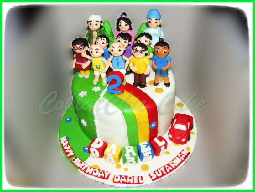 Ipin Dan Upin Coklatchic Cake