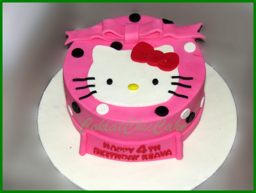 Cake Hello Kitty Keava Coklatchic Cake