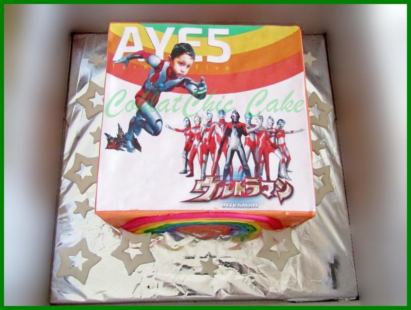 Ultraman Coklatchic Cake