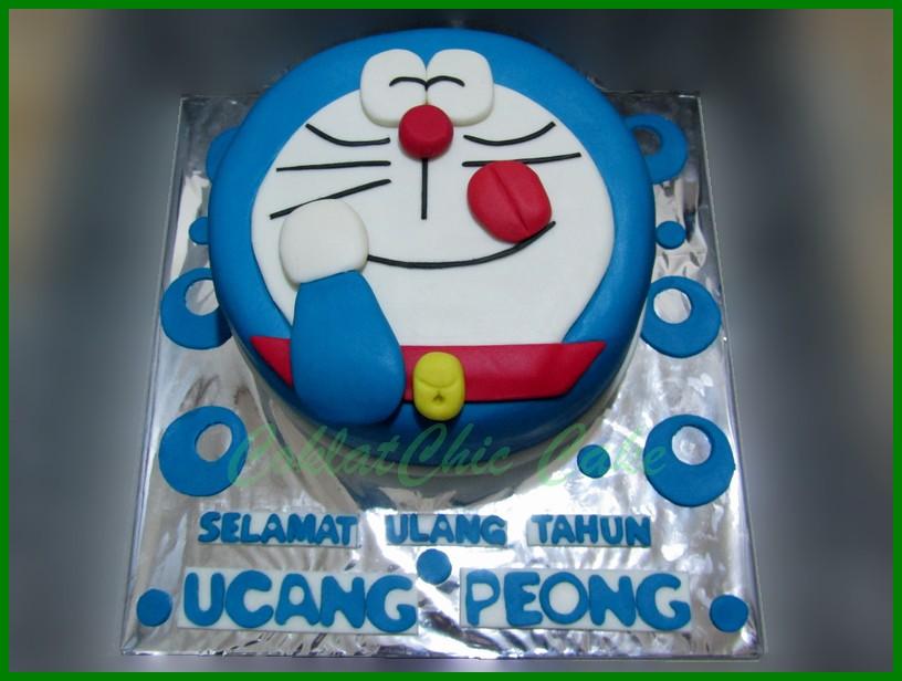 Doraemon Coklatchic Cake