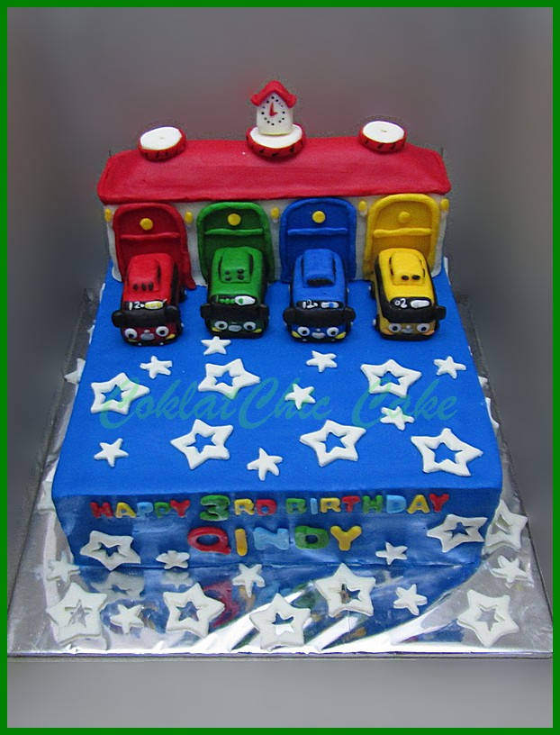 Cake Tayo The Little Bus Qindy Coklatchic Cake