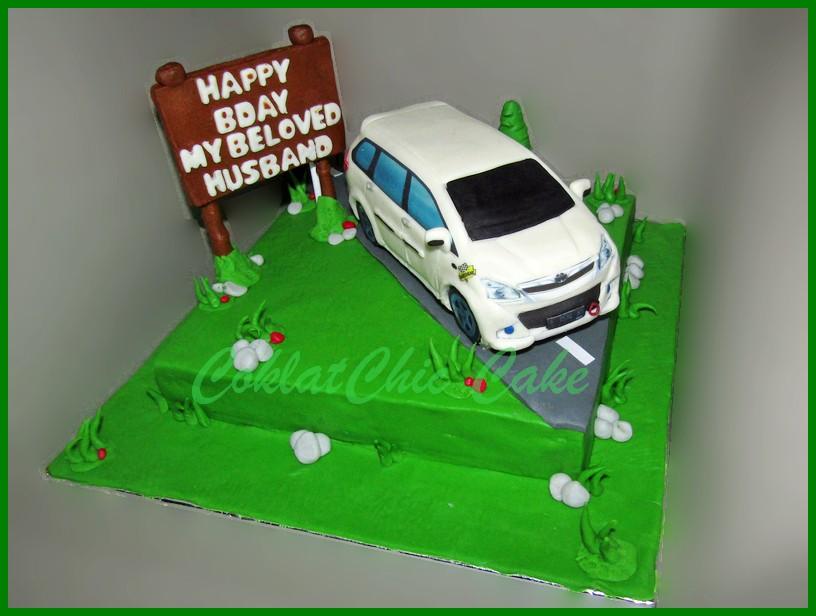 Cake Mobil Toyota Avanza Veloz Husband Coklatchic Cake