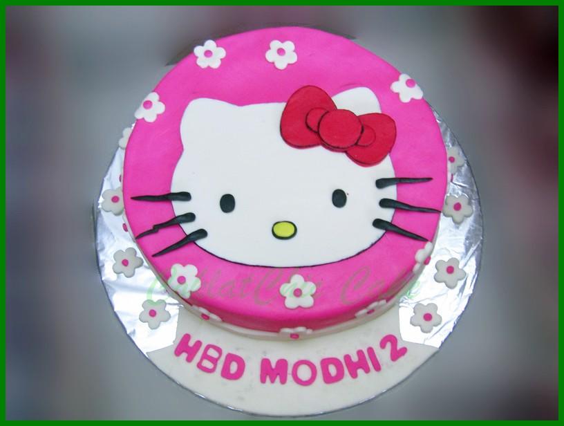 Cake Hello Kitty Modhi Coklatchic Cake
