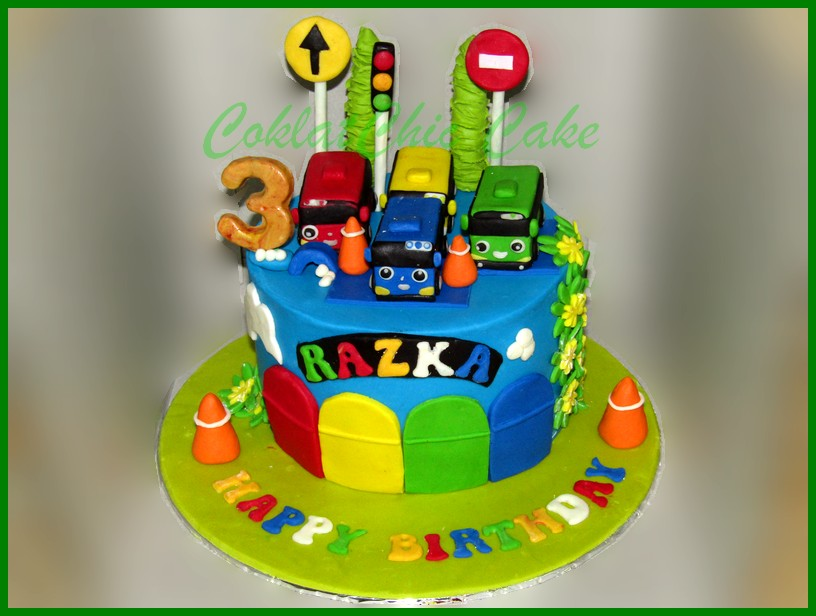 Tayo The Little Bus Coklatchic Cake