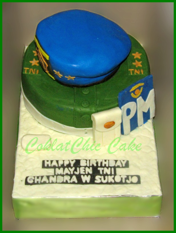 Army Coklatchic Cake