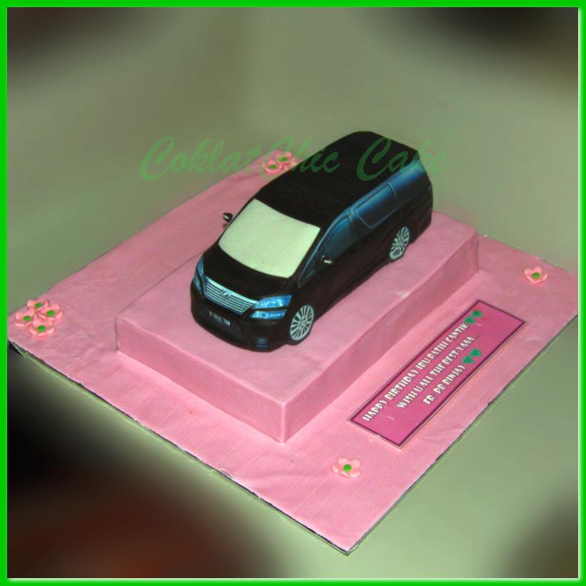 Cake Toyota Vellfire Ibu Ratih Coklatchic Cake